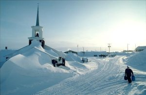 Snow Buries Church